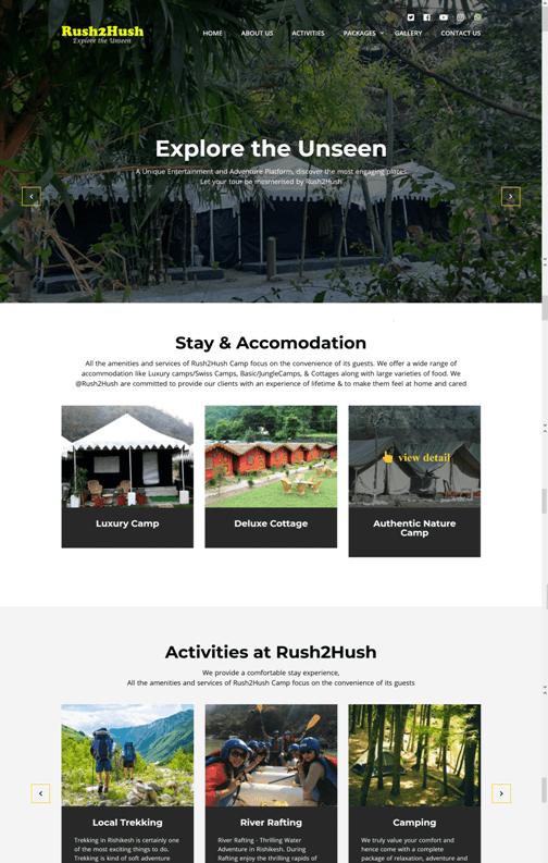 Rush2Hush - A Unique Entertainment and Adventure Platform
